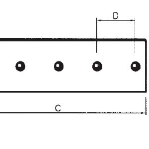 Lemiesz stosowany w maszynach Komatsu